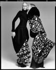 Jade Parfitt and Esther De Jong, ensembles by Galliano, New York